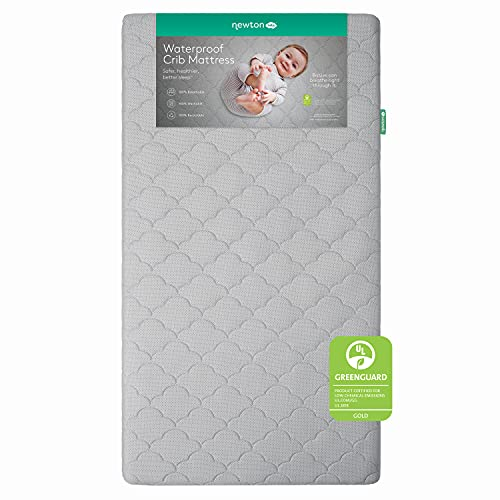 Newton Baby Crib Mattress and Toddler Bed - Waterproof - 100% Breathable Proven to Reduce Suffocation Risk, 100% Washable, Better Than Organic, 2-Stage Removable Cover - Deluxe 5.5' Thick - Grey