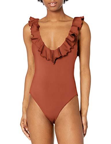 Eberjey Women's Loreta 1 Piece Swimsuit, Redwood, L
