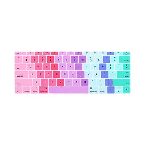 Toetsenbord hoes voor laptop, Us Eend voor MacBook 12 Pro13, zonder touchscreen, displaybeschermfolie voor toetsenbord van siliconen, voor A1534 A1931 A1708 A1988 J