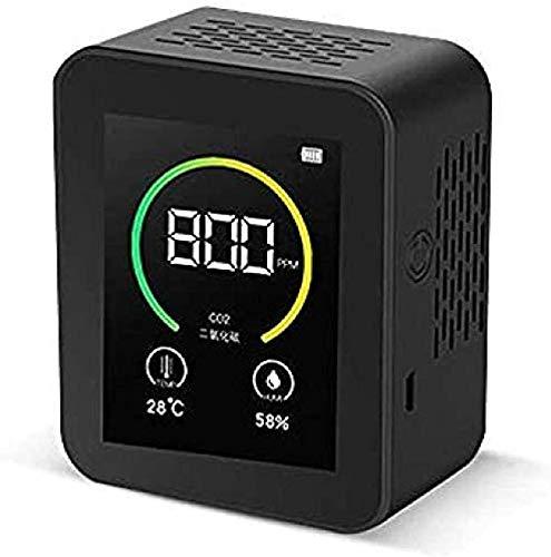 MIZUAN Co2 Ampel Co2 Meter Detektor Gas Konzentration Inhalt Intelligente Luft Tester Air QualitäT Analyzer Mit Temperatur Feuchte Display Weiß Schwarz