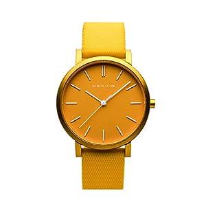 BERING Reloj Analógico para Unisex de Cuarzo con Correa en Silicona 16934-699
