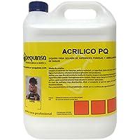 PEQUINSA Cera líquida para abrillantado de Suelos y Sellado de Superficies porosas. Envase 5 litros.