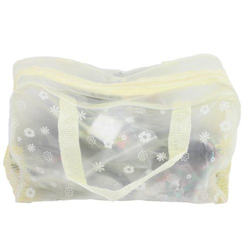 Trousse de Toilette Pochette Sac de Voyage Maquillage Rangement Cosmétique Bain Sac de Voyage Portable (Jaune)