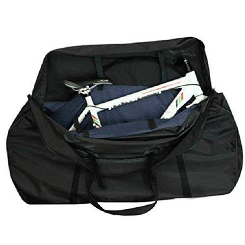 Weanas Bicycle Travel Cases/Bag with Two Inner Pockets, Fork Protector and Free Luggage Straps Included, Road Bike MTB Airplane Transport Bag for Bike