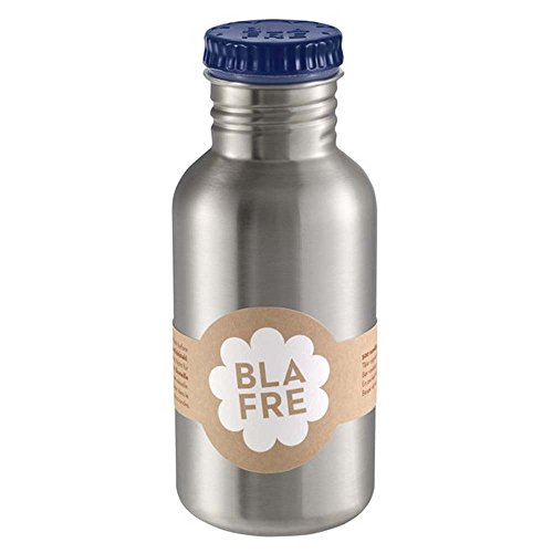 Blafre - Trinkflasche aus recyceltem Edelstahl, 500 ml, Marineblau – klassisches Design und eine super Methode, um Wegwerf zu vermeiden, 4568