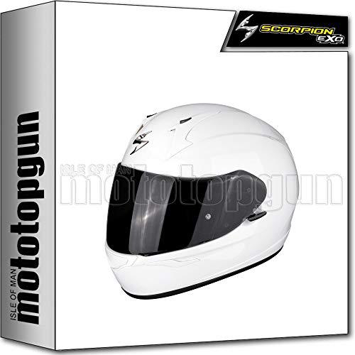 SCORPION INTEGRALHELM MOTORRAD EXO-390 SOLID WEISS SZ. XS