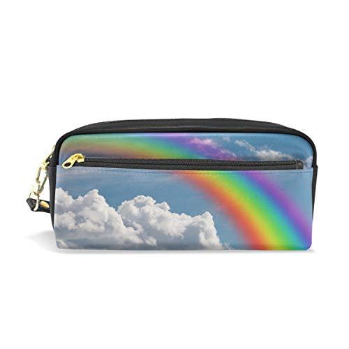 Mnsruu Trousse, Rainbow les nuages Grande capacité Pen Sac Maquillage Outil Sac avec compartiments pour filles garçons