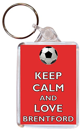Keep Calm and Love Brentford - Double Sided Large Keyring Football/FC Themed Gift/Souvenir/Present/Name Tag