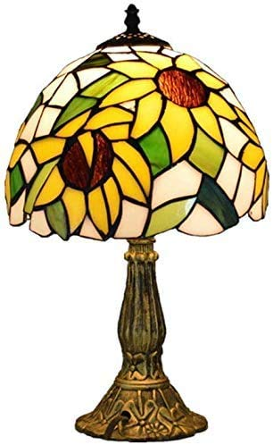 GXY Lámpara de Mesa Pulgada de Girasol Diseño de Mesa Estilo Resina...