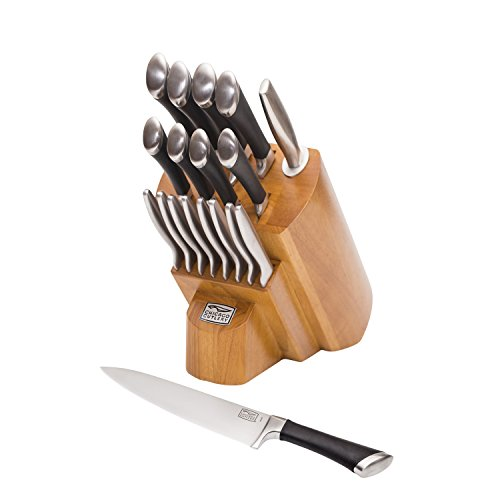 Chicago Cutlery Cutlery Fusion 18pc Block Set, 18 Pieces, Stainless Steel
