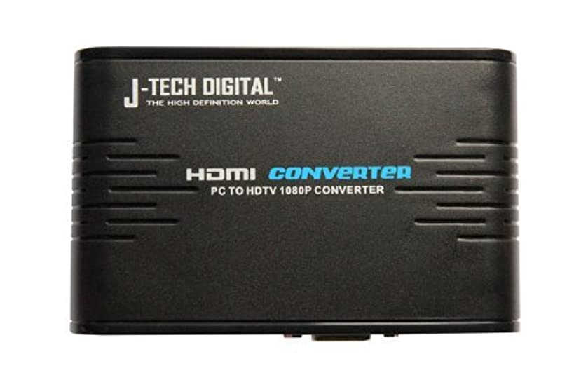J-Tech Digital JTD-PCTOHDTV PC to TV with 1080P Full HD VGA to HDMI Converter with Audio Output
