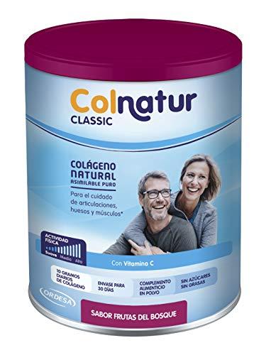 Colnatur Classic – Colágeno Natural para Músculos y Articulaciones, Sabor Frutos del Bosque, 315 gr