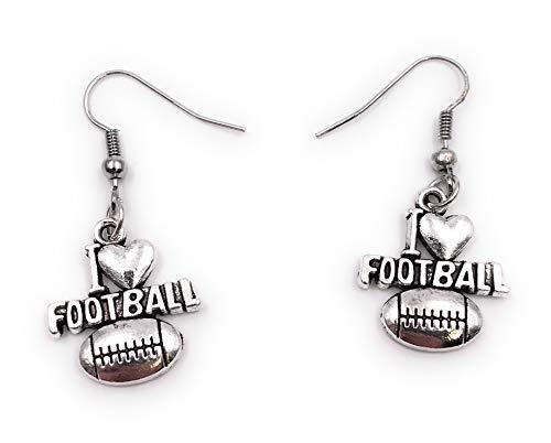 Onwomania Ohrringe Paar I love Football Ohrring aus Metall Ohrschmuck