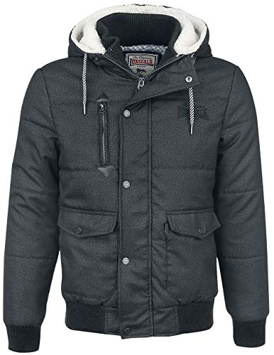 Lonsdale Mens FOX HILL Jacket, Anthracite, Extra Large
