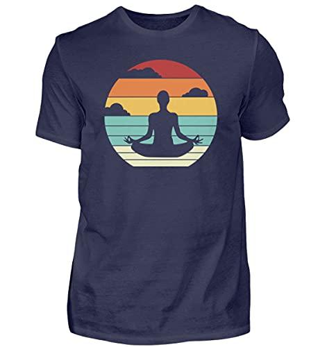Ashtanga Yoga Kundalini Yoga | 00966 - Camiseta para hombre azul oscuro M