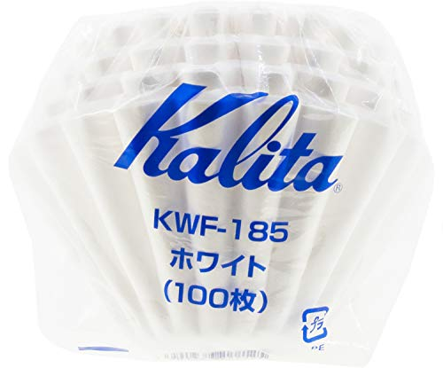 Kalita Wave Papier-Kaffeefilter I größere Größe 185 I 100 Stück I speziell über Tropfer I hergestellt in Japan L, weiß