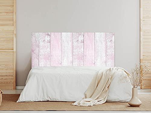Oedim Cabecero Madera Rosa y Blanca, 135x60cm, cabecero Decorativo para Camas, decoración para Habitaciones