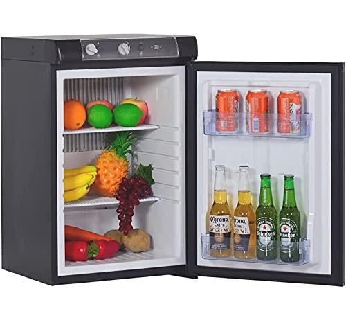 SMETA 3 Way Fridge Propane Refrigerator without Freezer Gas/12V/110V for RV Truck Camping Off Grid Fridge 2.1 Cu.Ft, Black