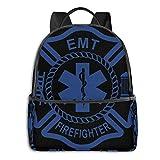 Zaini per studenti EMT Firefighter Maltese Cross, zaino per notebook Entrambi i ragazzi e le ragazze possono usare Itknapsack