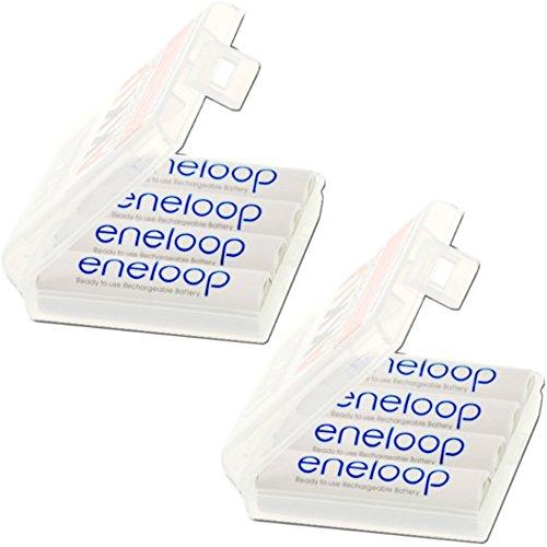 8er Pack Eneloop Akkus Mignon AA Akku Batterien in Kraftmax Akkuboxen - Neueste Version
