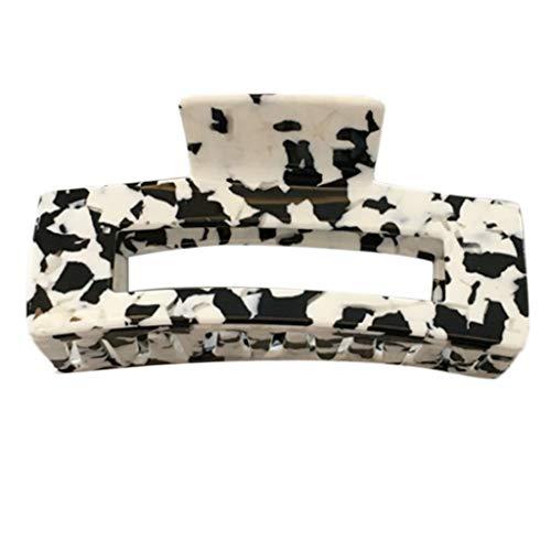 GREEN&RARE Pinza geomtrica para el pelo de estilo coreano para mujeres y nias, diseo vintage de vaca lechera, pasador para coleta, soporte para herramientas de maquillaje