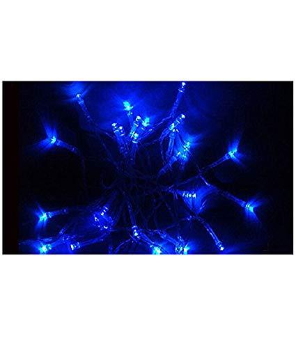Samgu 5 mètres Bleu Lumière chaîne de LED 50Leds LED Guirlande led lampe ampoule éclairage étanche pour jardin décoration extérieur intérieure lumineuse, idéal pour Noël , fêtes , mariages, maison, sapin de noël