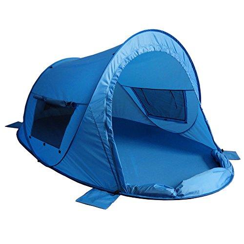 outdoorer Pop up Strandmuschel zum Verschließen Zack Premium Family - großes Strandzelt, verschließbar, UV Schutz 80, Sonnenschutz für den Strand