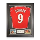 exclusivememorabilia.com Camiseta del Liverpool firmada por Robbie Fowler. Marco estándar