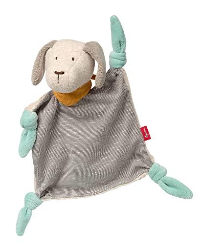 SIGIKID 41939 Schnuffeltuch Hund Signature Collection Mädchen und Jungen Babyspielzeug empfohlen ab Geburt blau, grau