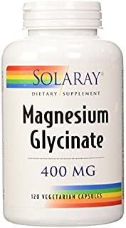 Solaray - Magnesium Glycinate 400 Mg. 120 Vegetarian Capsules