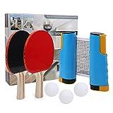 RG-FA Sturrly - Juego de remo profesional para ping pong con soporte de red retráctil