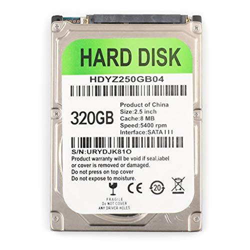 LEXIANG Cable Adaptador USB SATA HDD de 2,5 Pulgadas 80/120/160/250/320 / 500GB para Ordenador portátil Disco Duro mecánico Interno