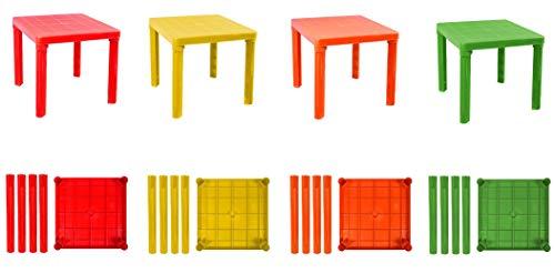 SHOPPING IN RETE Mesa para niños de plástico de Colores, rígida, Desmontable, Mesa...