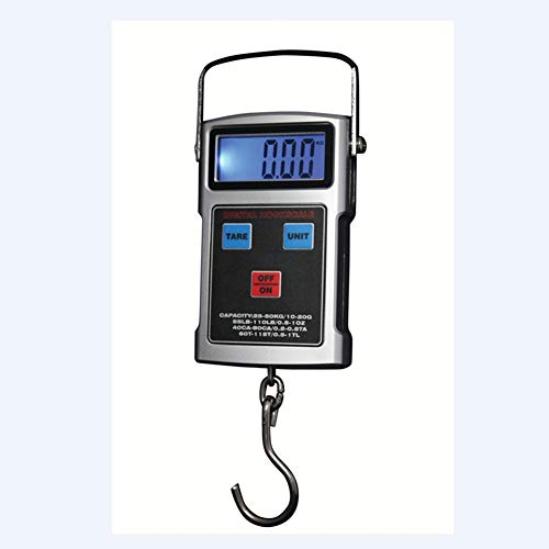 LJBN LCD Digitale Vishaak, Schaal Elektronische Reizen Bagage Kraan Schalen Thermometer Klok Tape Ophanggewicht Balans