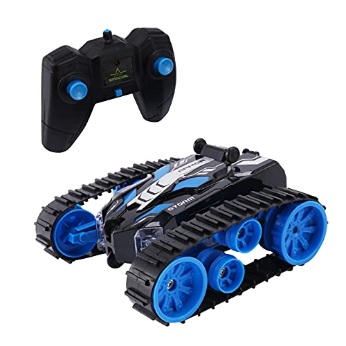 Breezeu RC Car Stunt Buggy Car 2.4G Crawler Roll Control Remoto Coche 360 RotacióN Tumbling VehíCulo Boy Toy Gift Azul