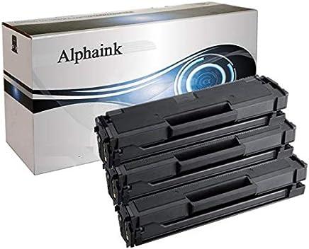 Alphaink AI-KIT3-PFMLT-D111L 1800 Copie XL 3 Toner Compatibili per Samsung M2022 W M2026 W M2020 W M2070 W M2070W M2026W M2022W M2020W MLT-D111S D111L XL 1800 Copie al 5% di Copertura