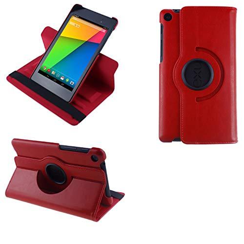 COOVY® 2.0 Cover für Google ASUS Google Nexus 7 (2. Generation Model 2013) Rotation 360° Smart Hülle Tasche Etui Hülle Schutz Ständer Auto Sleep/Wake up | rot