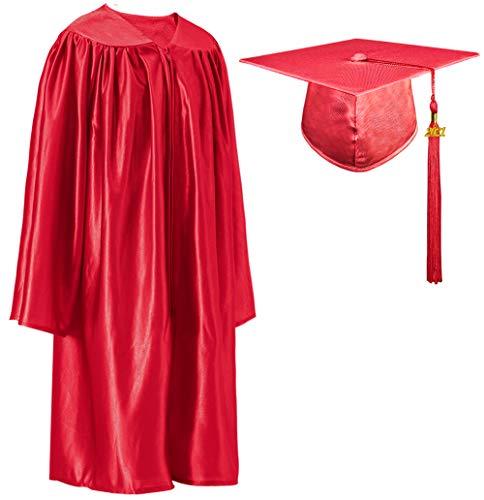 GraduatePro Laurea per Bambini Cappello con Toga 2020 Prescolastico Asilo Costume Fotografico Rosso