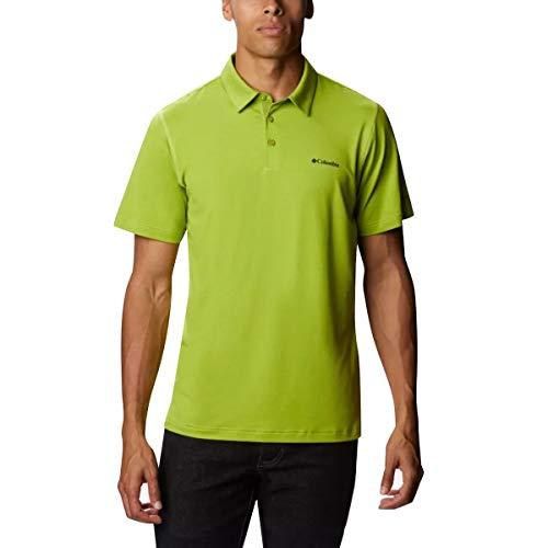 Columbia Men's Tech Trail Polo Shirt, Sun Protection, Moisture Wicking, Matcha, XX-Large