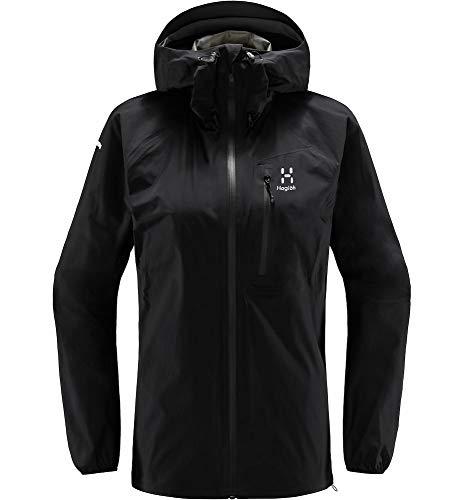Haglöfs Regenjacke Frauen L.I.M Jacket wasserdicht, Winddicht, atmungsaktiv True Black M M