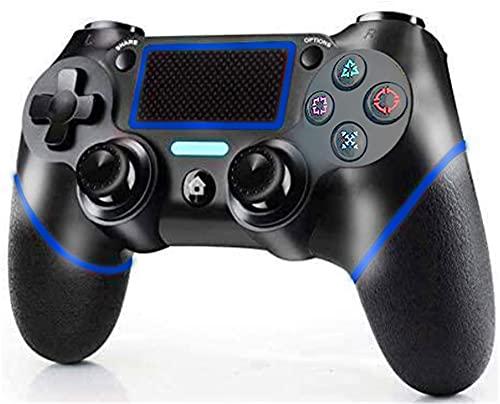 Controller per PS4,DUALSHOCK 4 Wireless Controller per Playstation 4/Pro/ Slim PC Pannello tattile Joypad con Joystick per Giochi a Doppia Vibrazione TouchPad e 3.5mm Jack Audio