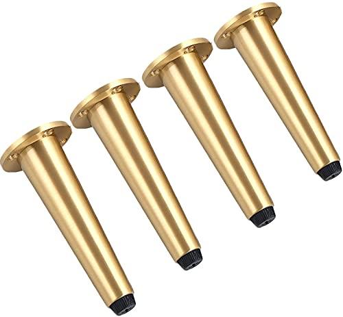 Zxwzzz 4 STÜCK Schreibtischstühle Beine Möbelbeine Gerade Metall Reine Kupfermöbel Beine Kegelmöbel Tischbeine Sofa Beine für Fernseher Schrankstuhlzähler (Size : 25cm)