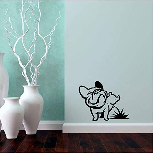Lovemq 50 * 72 Cm Cane Pissing Bulldog Francese Wall Stickers Vinyl Wall Art Decal Per Soggiorno Camera Dei Bambini Cars Tablet Wallpaper Home Decor