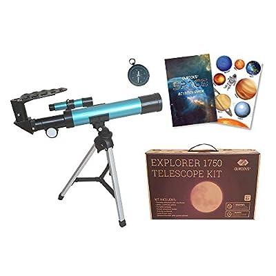 Qurious Space Kid's Explorer Telescope Gift Kit Eco Carry Case 1750| Children