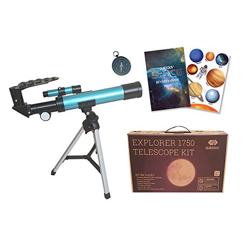 Best Buy! Qurious Space Kid's Explorer Telescope Gift Kit Eco Carry Case 1750| Children