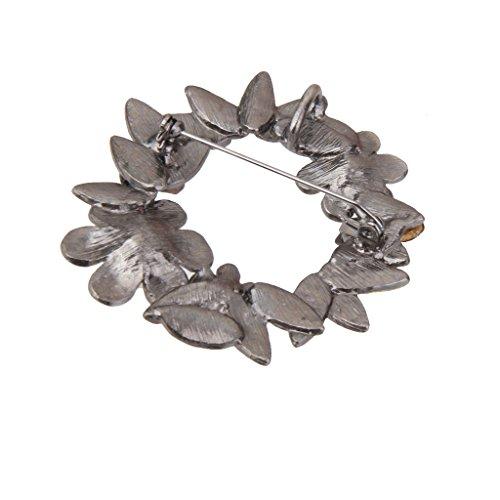 【ノーブランド 品】ヴィンテージ 女性 ブローチ ピン スカーフ リング クリップ 花輪