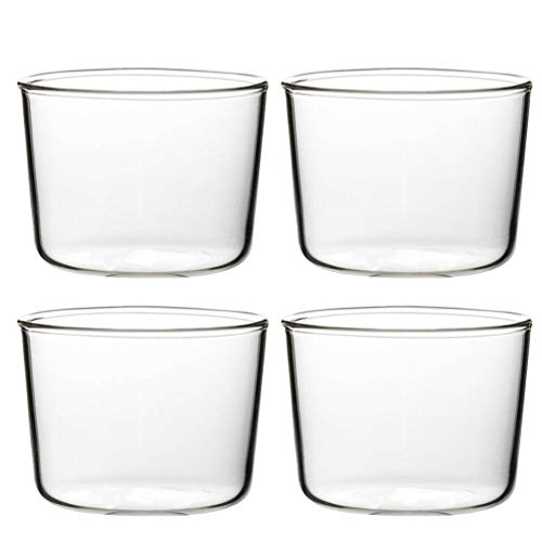 BESTonZON Vasos para helado o postre, 200 ml, para pudding helado, postre, aperitivo, desayuno, yogur, tiramisu, mousse, vasos, vasos para bebidas, para casa, restaurante, fiesta, 4 unidades