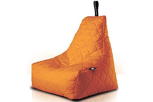 Poltrona a Sacco OUTDOOR - b-bag mighty-b Orange - Quilted - Resistente all'acqua - 100% Polyester - Resistente UV 7/8