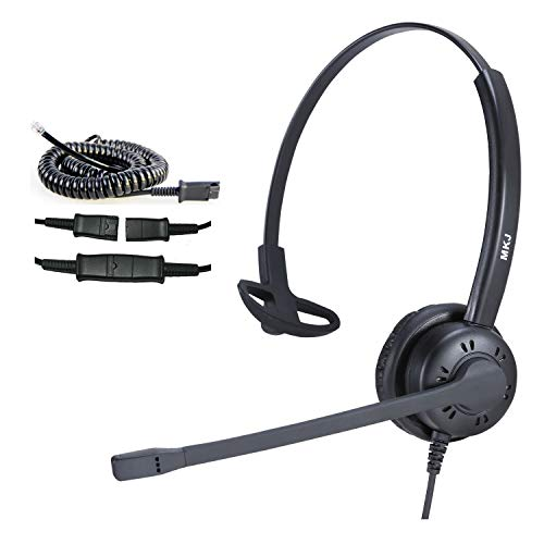Cisco Headset with Noise Cancelling Microphone Corded RJ9 Call Center Telephone Headset for Cisco IP Phone CP-7861 7942G 7941G 7945G 7960 7961G 7962G 7965G 7971 7971G 7975G 8841 8861 9951 9971 etc