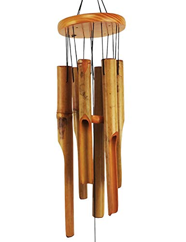 MUMTOP Bamboo Wind Chime Outdoor Wooden Music Wind Chimes for Garden, Patio, Home or Outdoor Decor